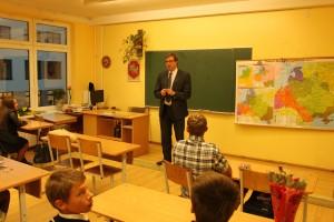 Mokytojų diena Skuodo meras pravedė pamoka