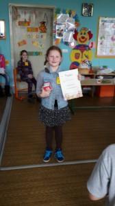 Pačia šauniausia klasės mergaite berniukai išrinko Brigitą. Sveikiname!